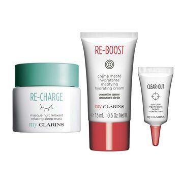 My Clarins Gesichtspflege-Set für makellose Haut