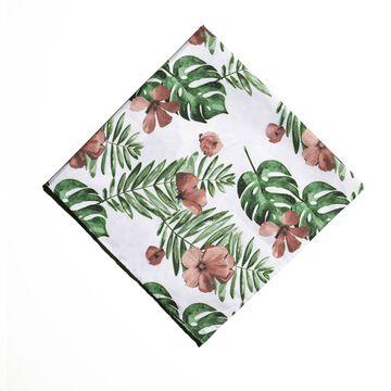 Foulard aux motifs floraux
