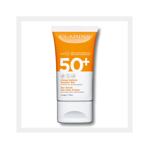 """Sonnenschutz-Creme für das Gesicht """"Dry Touch"""" UVA/UVB 50+"""