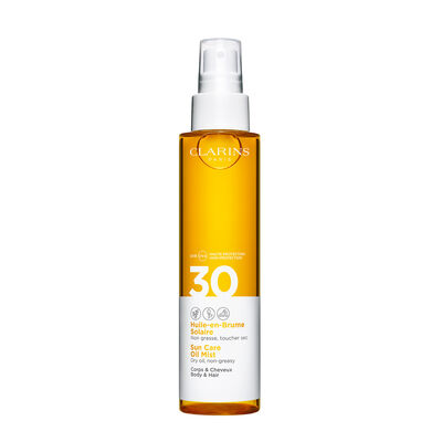Transparentes Sonnenschutz-Öl für Körper und Haare im Spray UVA/UVB 30