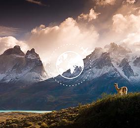 Foto der Berge