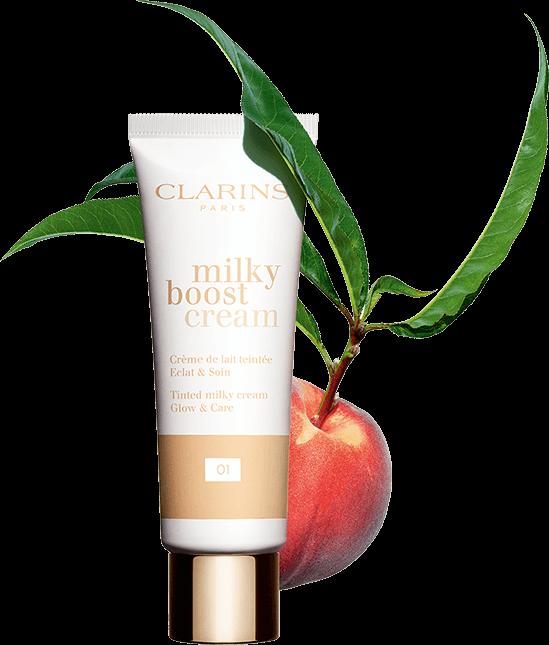 Packshot Milky Boost Cream mit Pfirsich