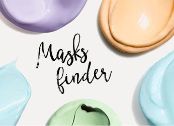 De texturen van de maskers van Clarins