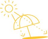 Ein Sonnenschirm